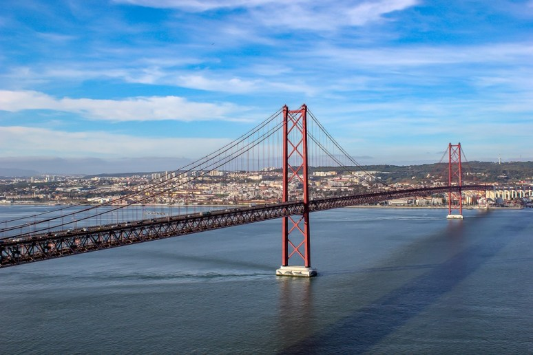 Pont 25 de Abril - 25 April Bridge - in Lisbon, Portugal