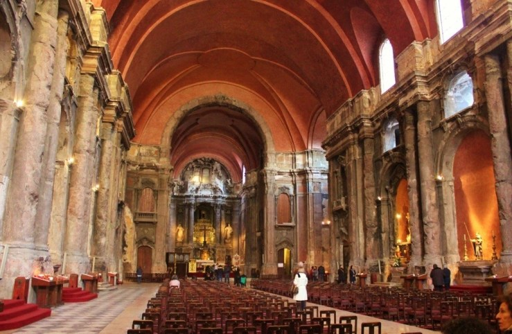 Interior of Santo Domingo Church in Lisbon, Portugal