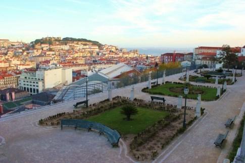 Miradouro in Bairro Alto in Lisbon, Portugal