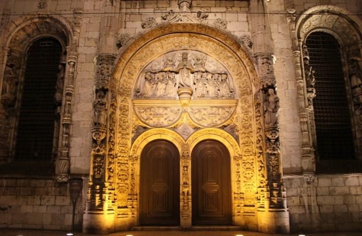 Manuline Portico at Nossa Senhora da Conceicao Velha in Lisbon, Portugal
