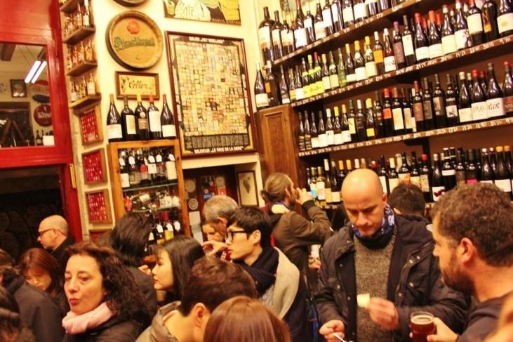 Standing Room Only at Quimet & Quimet tapas bar in Barcelona, Spain
