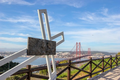Stations of the cross at Cristo Rei in Lisbon, Portugal