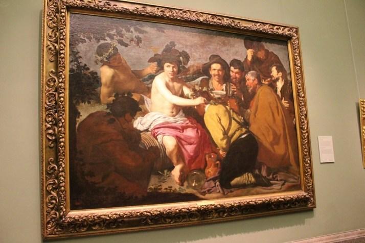 The Drinkers by Velazquez at Prado Museum, Madrid Spain