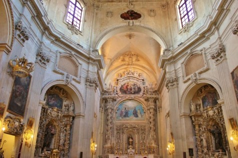Main altar at Chiesa di Santa Chiara Church in Lecce, Italy