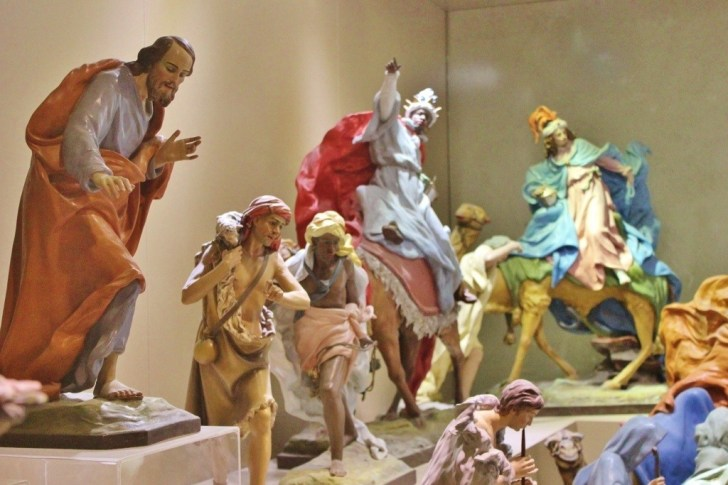 Paper Mache artwork at museum in Lecce, Italy