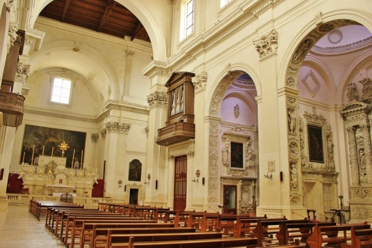Interior of Chiesa di Sant'Irene Church in Lecce, Italy