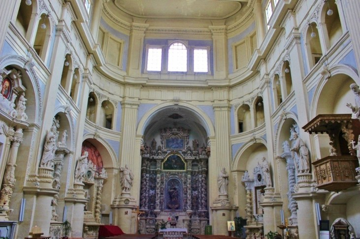 Interior of Chiesa di San Matteo Church in Lecce, Italy