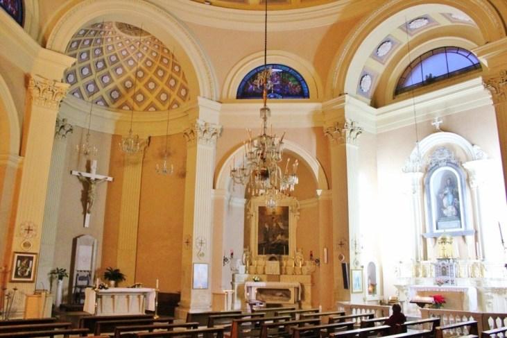 Interior of Chiesa di Santa Maria della Porta Church in Lecce, Italy