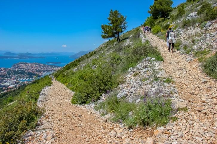 Hiking trail on Mount Srd in Dubrovnik, Croatia