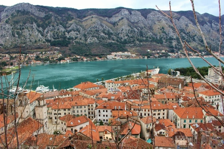 First view from hiking Kotor, Montenegro