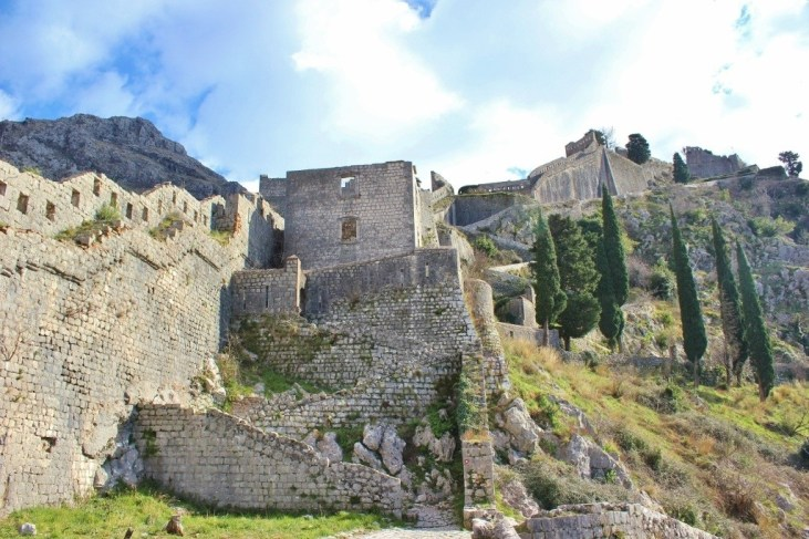 Trails and walls, on the way to the top of Kotor, Montenegro