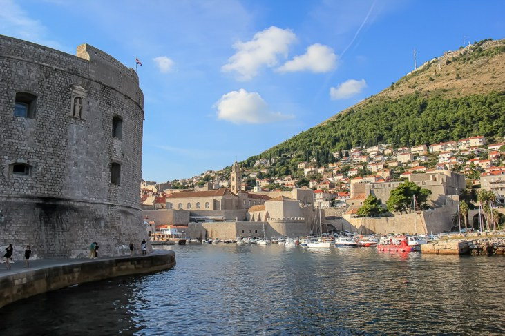 Dubrovnik, Croatia Old Town and Mount Srd