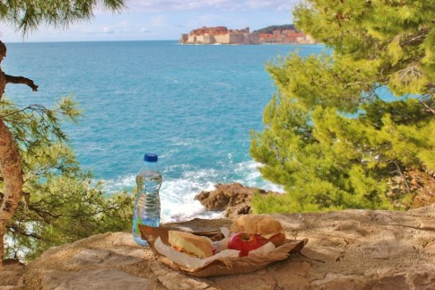 Picnic lunch with a view of Dubrovnik, Croatia JetSettingFools.com