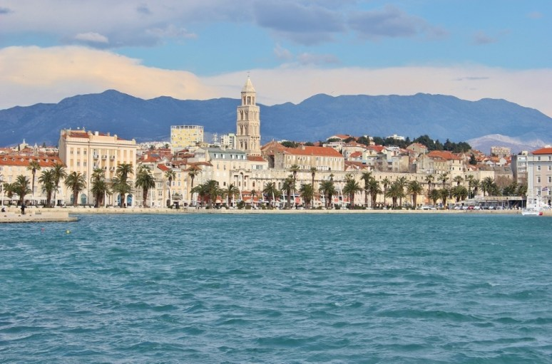 Split Bell Tower rises from Diocletian's Palace in Split, Croatia