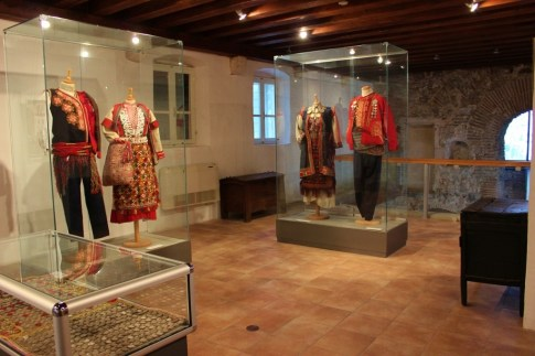 Ethnographic museum displays traditional clothes in Diocletian's Palace in Split, Croatia