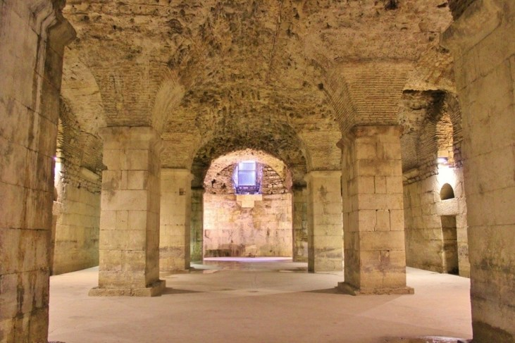Diocletian's Palace Basement in Split, Croatia