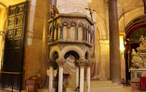 Cathedral of Saint Domnius Original columns in Diocletian's Palace in Split, Croatia