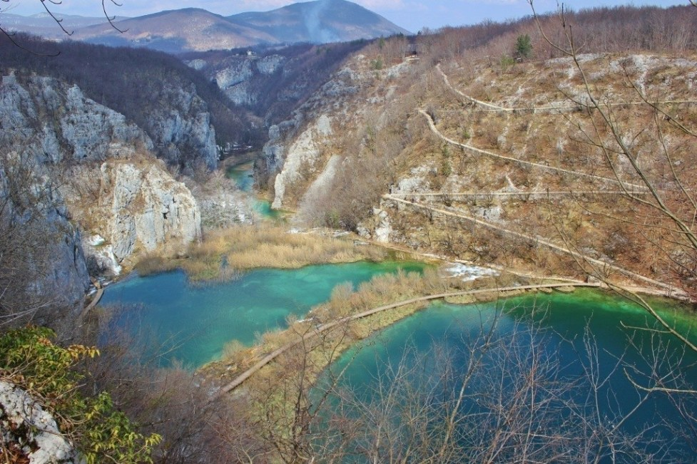 Viewpoint from Plitvice Lakes Hike in Croatia