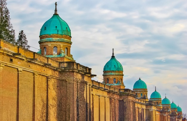 Famous architecture at Mirogoj Cemetery in Zagreb, Croatia
