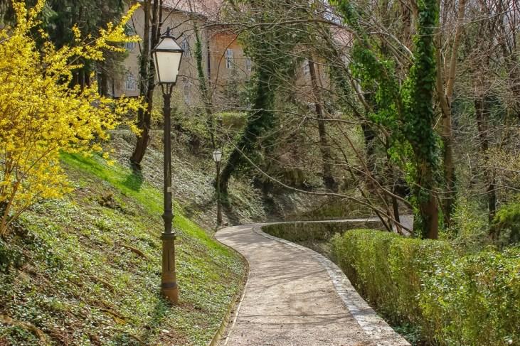 Paved patt Dubravkin Put in Zagreb, Croatia