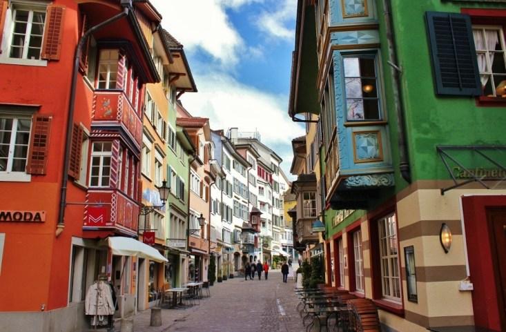Augustinergasse Street, Old Town, Zurich, Switzerland JetSettingFools.com