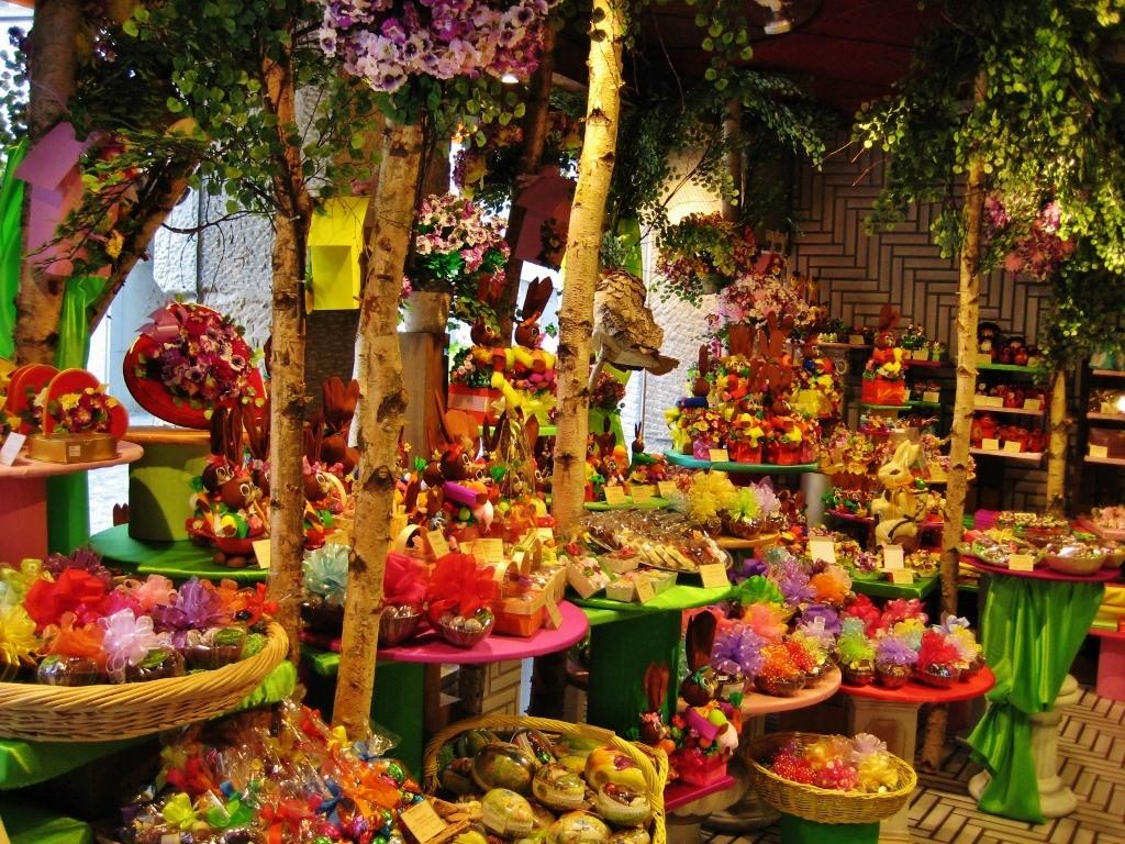 Colorful chocolate shop, Zurich, Switzerland JetSettingFools.com