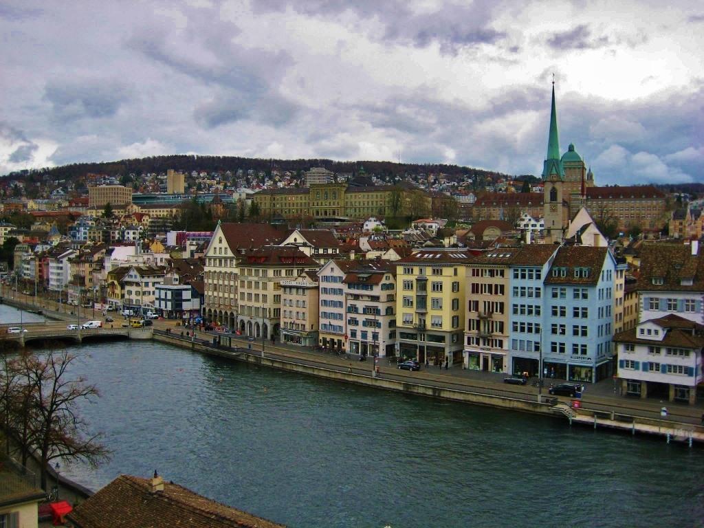 Zurich City View from Lindenhof Park, Zurich, Switzerland JetSettingFools.com