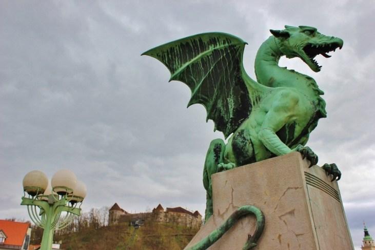 What to see in Ljubljana: Dragon Bridge