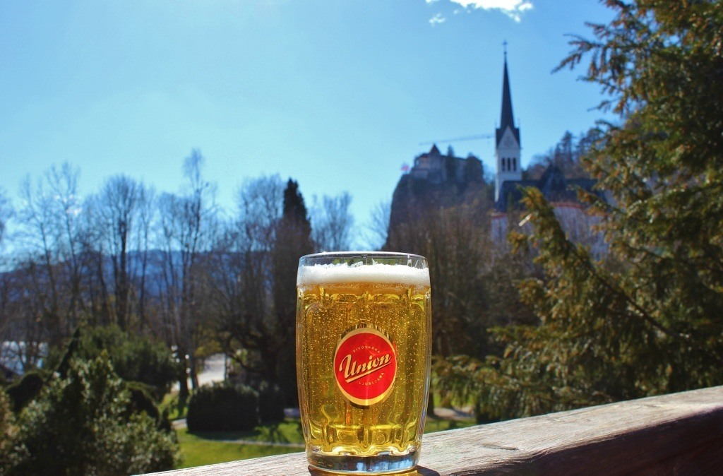 beers at Lake Bled Slovenia