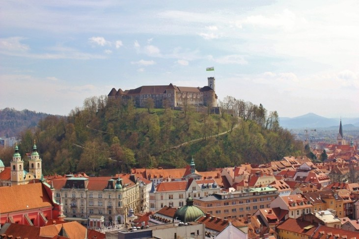 What to see in Ljubljana: View over the city from the Skyscraper