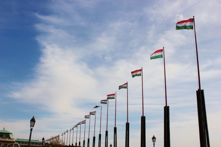 Castle Hill sights: Flag lined street