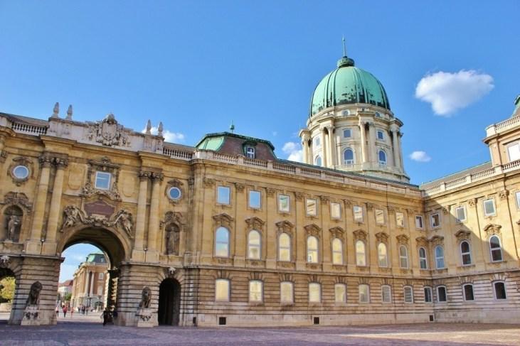 The Buda Castle Royal Palace courtyard