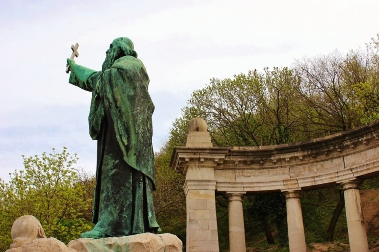 Gellert Hill: Statue of St. Geller, for whom the hill was named