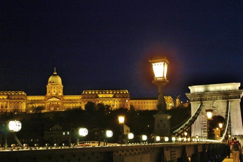 Budapest, Hungary at night