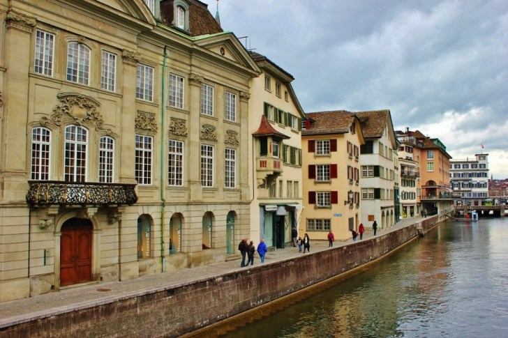 Riverside walkway in Zurich, Switzerland JetSettingFools.com
