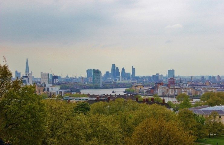 A day in Greenwich, London: The view from Greenwich Park hill