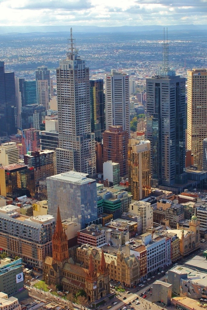 Melbourne's CBD from the terrace of the Eureka Skydeck.