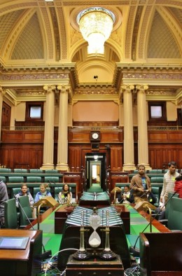 On our Parliament and a Politician Pub Crawl, we got a glimpse into the Legislative Assembly Chamber; with a fantastic view from the Speaker's Chair