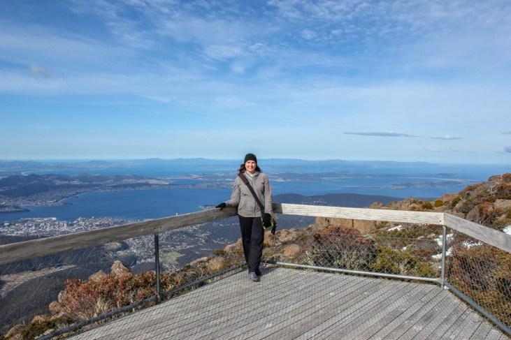 Viewing platform, Hobart, Tasmania, Australia
