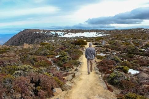 Starting our hike down Hobart, Tasmania, Australia