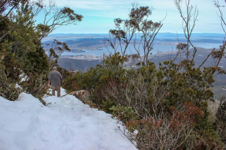 Icy Trail, Hiking Mt Wellington, Hobart, Tasmania, Australia
