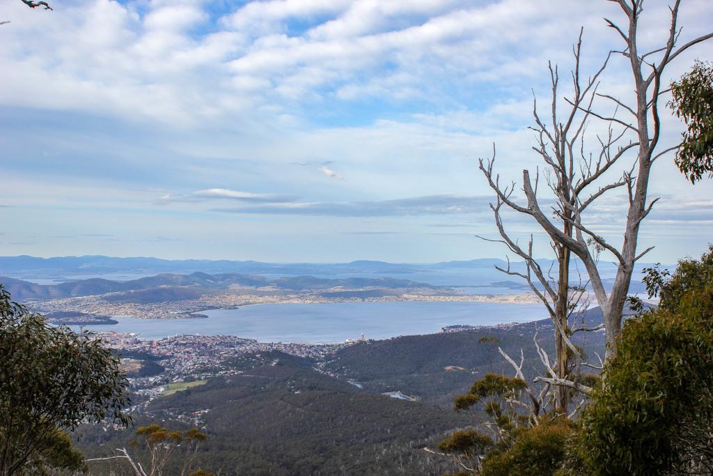 View from the trail, Mt Wellington, Hobart, Tasmania, Australia