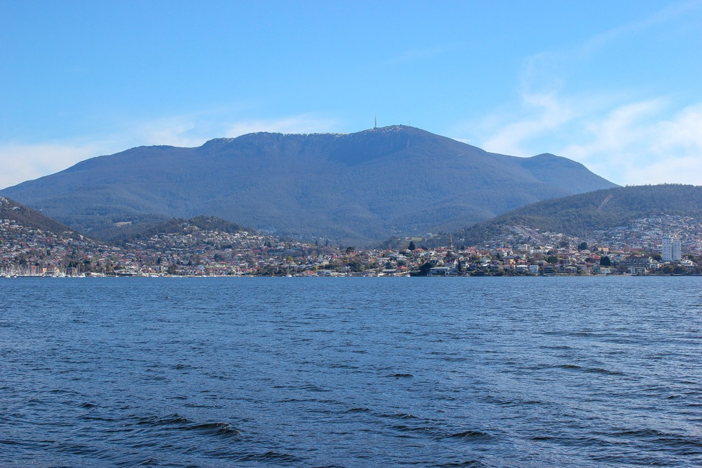 Water view of Hobart, Tasmania, Australia