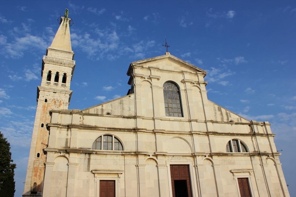 The hilltop church, St. Euphemia, in Rovinj, Croatia