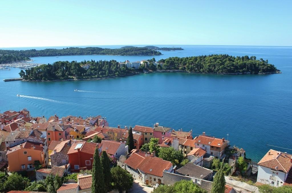 St. Katarina Island as seen from the St. Euphemia Church bell tower