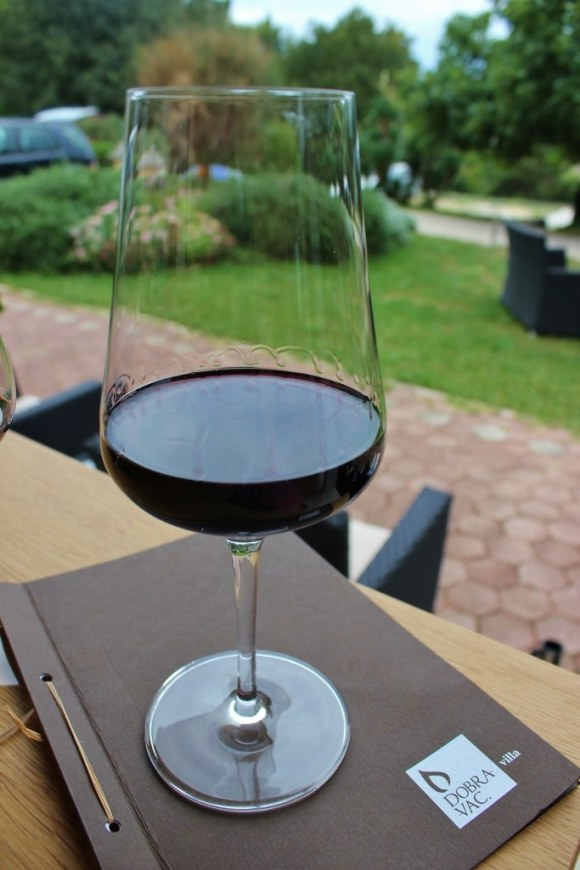 The first stop on our Rovinj Wine Walk was at Villa Dobravac
