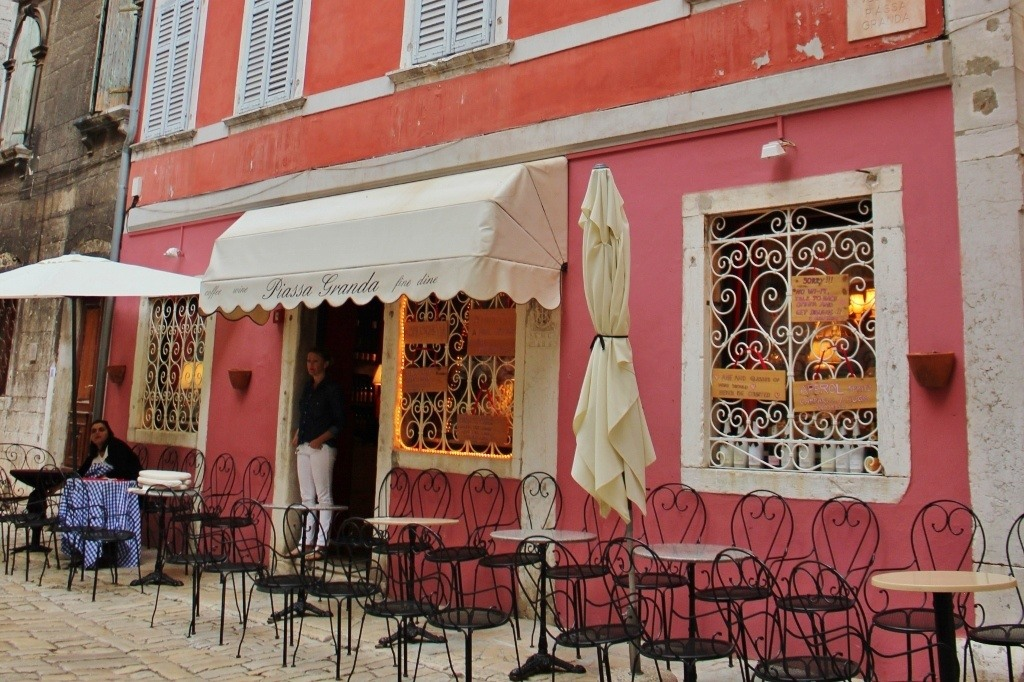 For those not wanting to take a Rovinj Wine Walk, Piassa Granda has many local wines to chose from