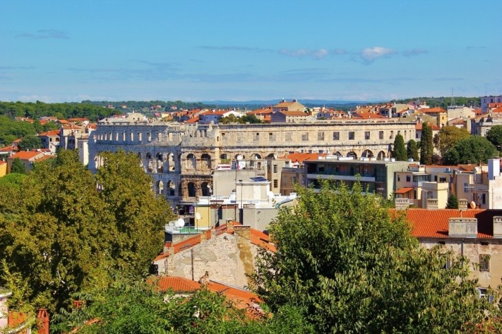 View of Pula, Croatia