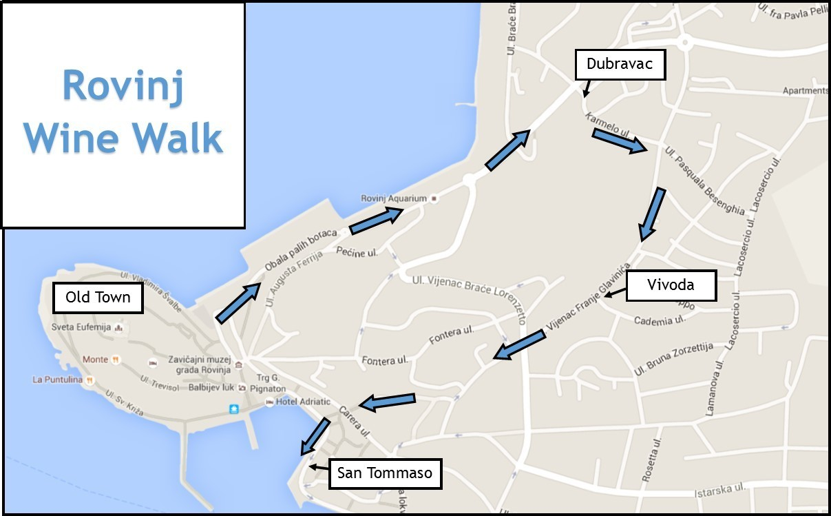 Rovinj Wine Walk Map