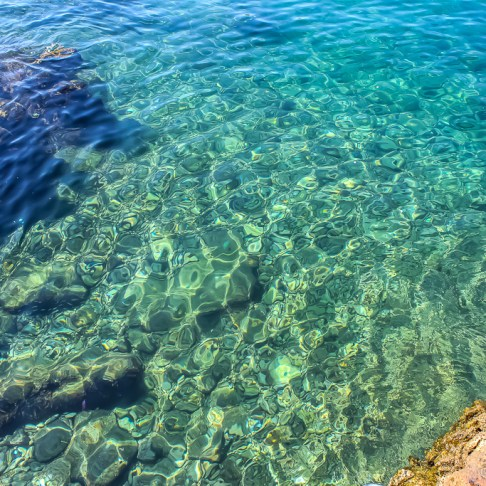 Crystal Clear water in Rovinj, Croatia